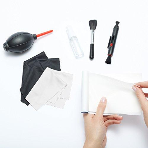 AmazonBasics - Kit de limpieza para cámaras DSLR y dispositivos electrónicos delicados - VendeTodito