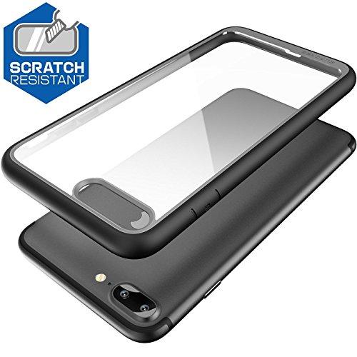 Supcase - Funda para iPhone 7/ 8 Plus Unicorn Beetle Style, Escarabajo Hibrido, Transparente, Negro - VendeTodito