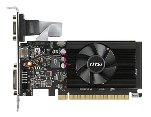 MSI GeForce GT 710 2GD3 LP GeForce GT 710 2GB GDDR3 - Tarjeta gráfica (GeForce GT 710, 2 GB, GDDR3, 64 Bit, 4096 x 2160 Pixeles, PCI Express 2.0) - VendeTodito