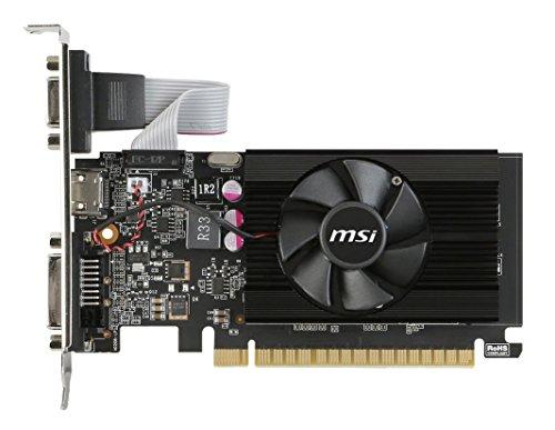 MSI GeForce GT 710 2GD3 LP GeForce GT 710 2GB GDDR3 - Tarjeta gráfica (GeForce GT 710, 2 GB, GDDR3, 64 Bit, 4096 x 2160 Pixeles, PCI Express 2.0) - VendeTodito