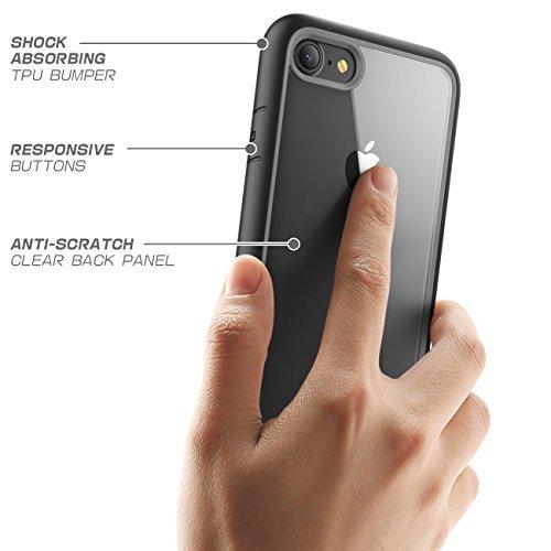 Supcase Unicorn Beetle Style Premium - Funda iPhone 7 ( 2016) y iPhone 8 (2017), Carcasa Transparente Híbrida, color Negro - VendeTodito