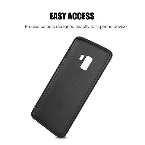 Luxmo Funda Case Elegante para Samsung S9 Fibra de Carbono con Aluminio, color Negro - VendeTodito