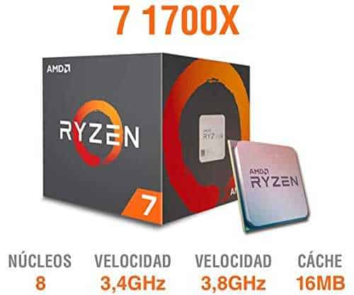 AMD YD170XBCAEWOF Procesador Ryzen 7 1700X, 3.4Ghz, Socket AM4, sin Disipador, 95W - VendeTodito