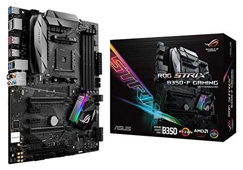 ASUS ROG Strix B350-F Gaming Motherboard ATX, B350, AMD Ryzen AM4, DDR4, HDMI, DisplayPort, M.2, USB 3.1 - VendeTodito