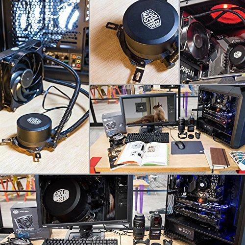 Cooler Master MLW-D12M-A20PW-R1 MasterLiquid Lite 120 Enfriador Líquido para CPU Todo en Uno con Bomba de Disipación Doble/Ventilador 120mm - VendeTodito