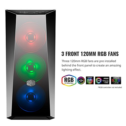 Cooler Master MasterBox Lite 5 RGB ATX Mid-Tower with 3 RGB Fans Tempered Glass Side Panel & External Cases (MCW-L5S3-KGNN-02) - VendeTodito