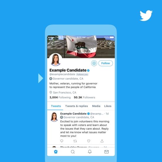 Twitter otorgará a los candidatos políticos una insignia especial durante las elecciones legislativas de EE. UU.