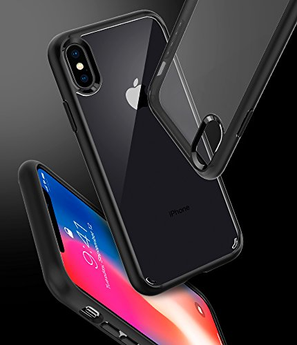 Spigen Funda Para iPhone X, Ultra Hybrid, con Air Cushion Estuche Para Apple iPhone X - Negro Mate - VendeTodito