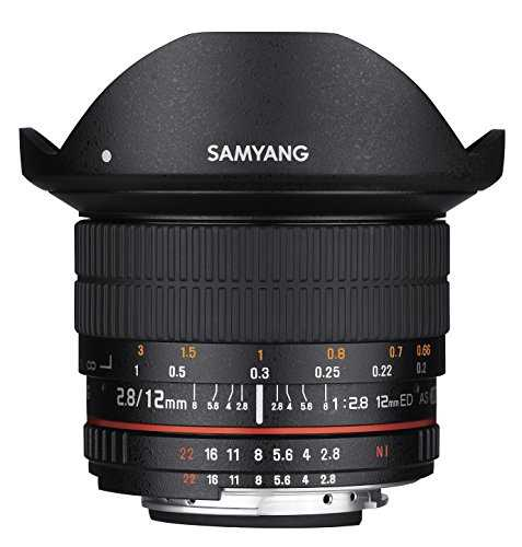 Samyang 12mm F2.8 Ultra Wide Fisheye Lens for Canon EOS EF DSLR Cameras - Full Frame Compatible - VendeTodito