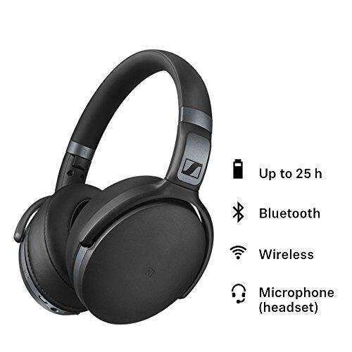 Sennheiser HD 4.40 BT - Audífonos Inalámbricos En El Oido con Micrófono integrado, Bluetooth, Negro - VendeTodito