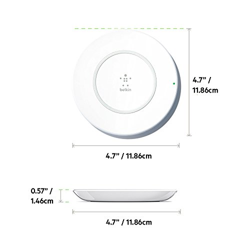 Belkin F7U027dqWHT-AP Base de Carga Inalámbrica para iPhone X, iPhone 8 Plus, iPhone 8, Color Blanco - VendeTodito