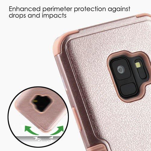 MyBat Funda Case para Samsung S9 (No Plus) Doble Protector de Uso Rudo Tuff, Color Natural Rose Gold - VendeTodito