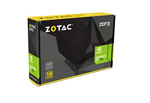 Zotac GeForce GT 710 - Tarjeta gráfica de 2 GB DDR3 PCI-E2.0 DL-DVI VGA HDMI con una Sola Ranura refrigerada pasiva, ZT-71302-20L, PCI Express 2.0, 1GB DDR3 - VendeTodito