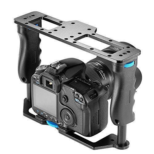 Neewer Aluminum Alloy Film Movie Making Camera Video Cage for DSLR Cameras Such as Canon 5D mark II III 700D 650D 600D;Nikon D7200 D7100 D7000 D5200 D5100 D5000 Pentax Sony A7,A7II,A7R,A7S Olympus - VendeTodito