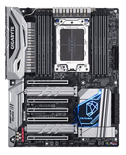 Gigabyte X399 Designare EX Motherboard, AMD Ryzen Thread Ripper TR4, ATX, 3x M.2, Wi-Fi, Front & Rear USB 3.1, Dual Intel LAN - VendeTodito