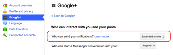 Mirando hacia atrás en Google+