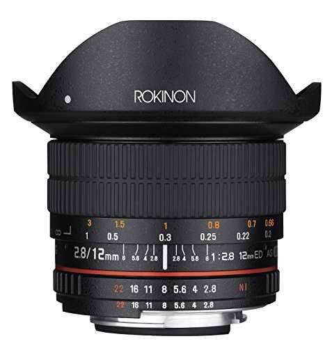 Rokinon 12mm F2.8 Ultra Wide Fisheye Lens for Nikon DSLR Cameras - Full Frame Compatible - VendeTodito
