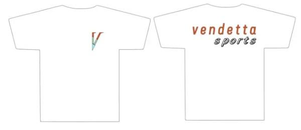 Vendetta Sports Small Striped V T-Shirt