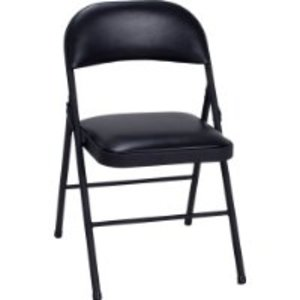 black padded folding chairs leather office loanables 8 rental located in webster ny