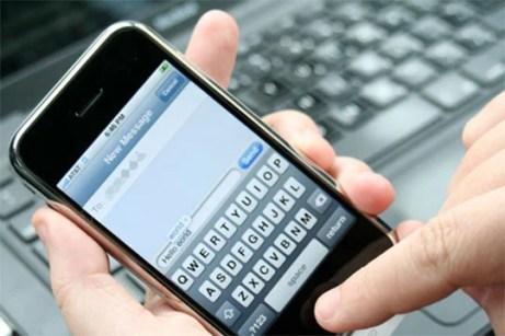 Mensajes de texto recordando el pago