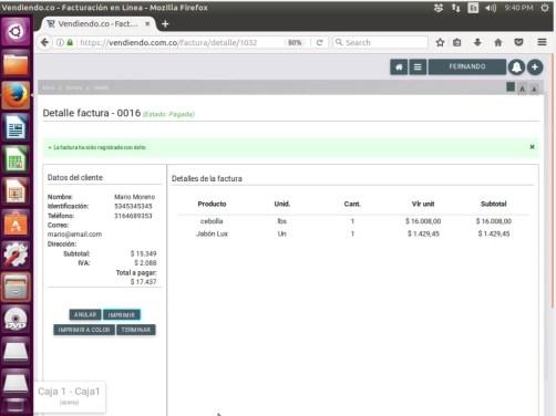 Vendiendo.co Software POS en linux