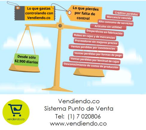 Costo beneficio del software Punto de Venta Vendiendo.co