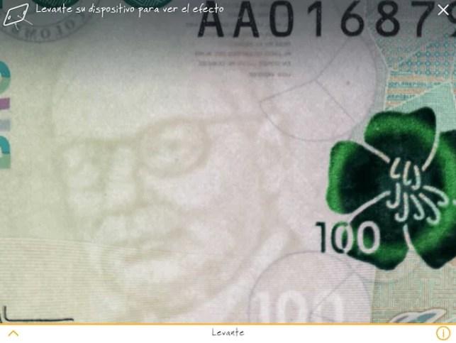 Marca de agua de Carlos Lleras - Identificar un billete falso
