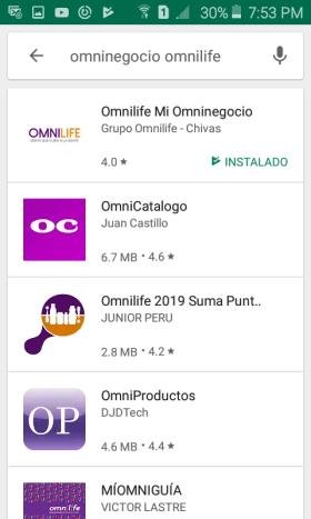 Descarga de Mi OmniNegocio Omnilife
