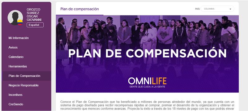 Plan de compensación Omnilife
