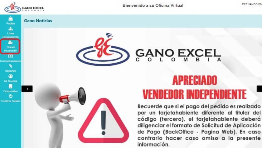 afiliacion Gano Excel USA - BO Colombia 1