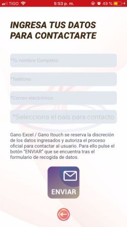 Contactar a Gano Excel / ITouch