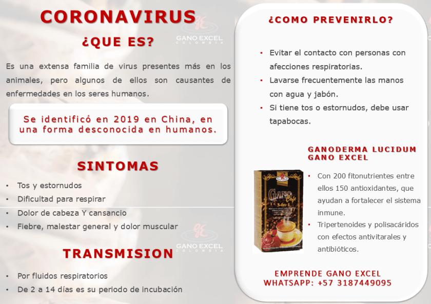 Prevención del coronavirus - fortalece sistema inmunológico