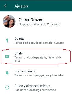 Chats WhatsApp Personal