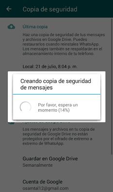 Backup WhatsApp Personal