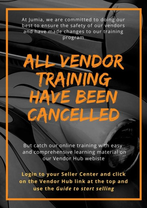 ALL VENDOR TRAINING HAVE BEEN CANCELLED (1)
