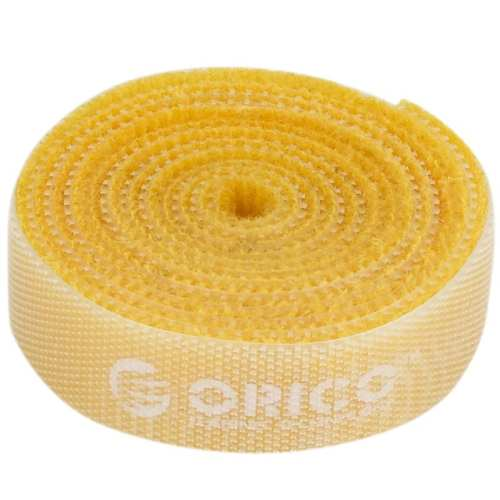 Orico 1m Hook and Loop Cable Tie - Yellow