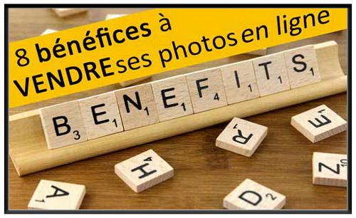 bénéfices à vendre ses photos en ligne