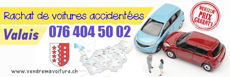 Rachat de voiture accidentée à Valais