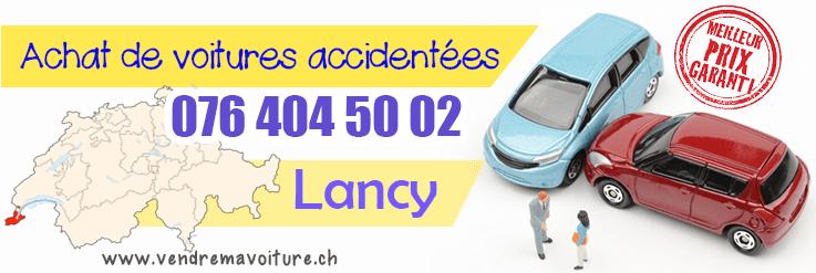 Vendre sa voiture accidentée à Lancy