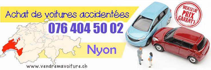Vendre sa voiture accidentée à Nyon