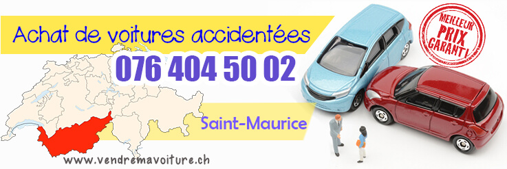 Vendre sa voiture acciedntée à Saint-Maurice