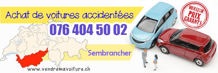 Vendre sa voiture accidentée à Sembrancher