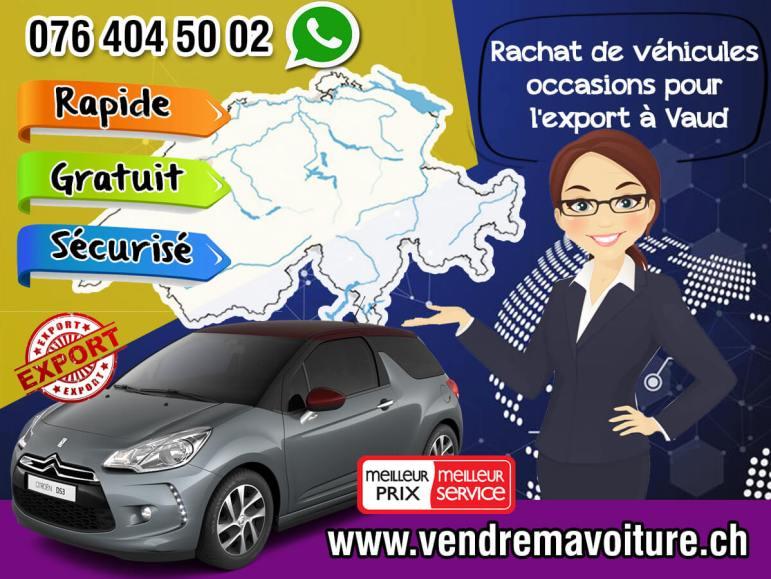 Rachat de véhicules occasions pour l'export à Vaud