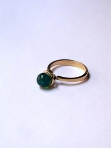 anillo torre agata verde