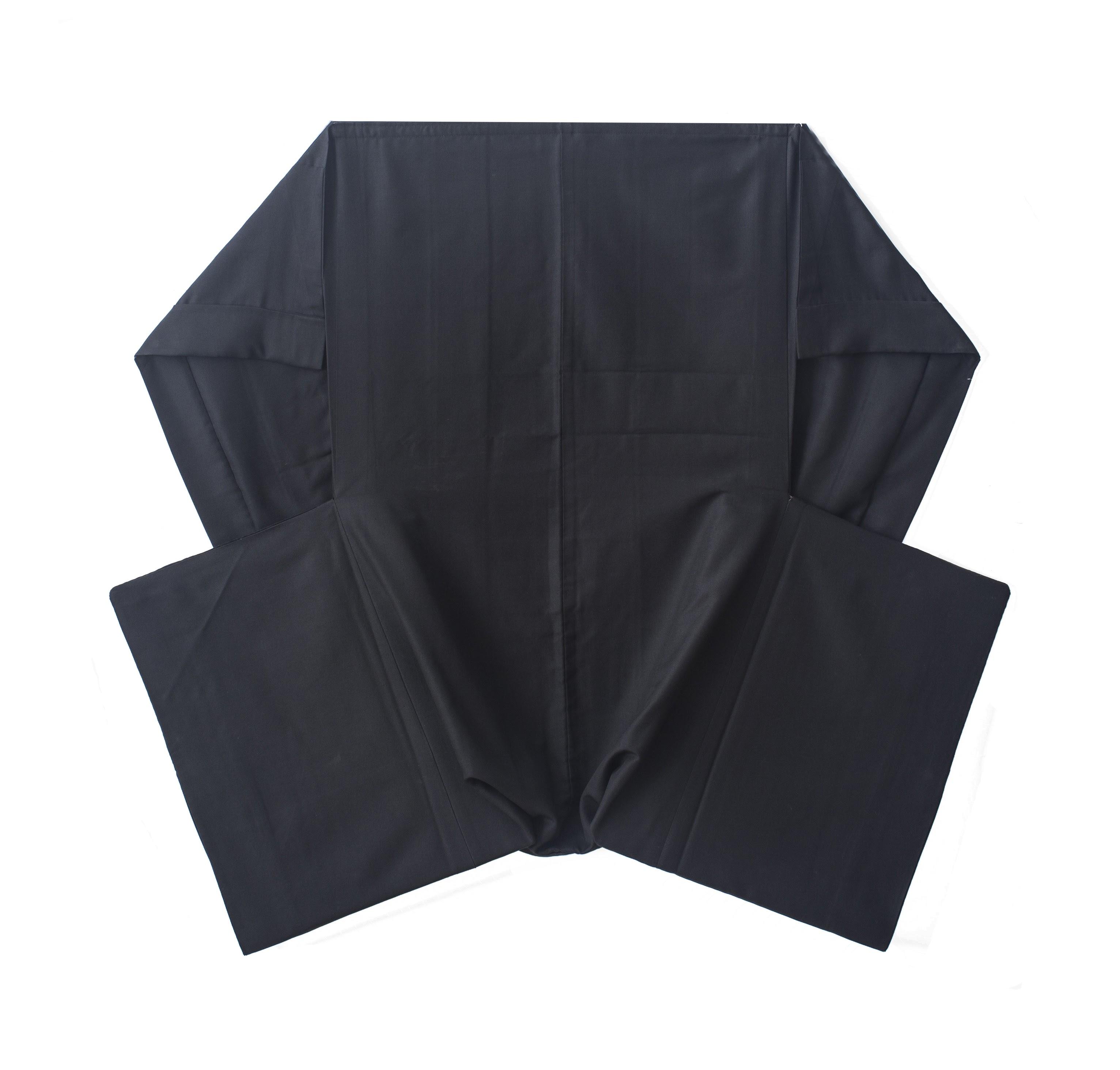 CONSTELACIÓN Técnica: Haori de seda con incorporación de cartón y velcro. Dimensiones: 130 x 100 cm.