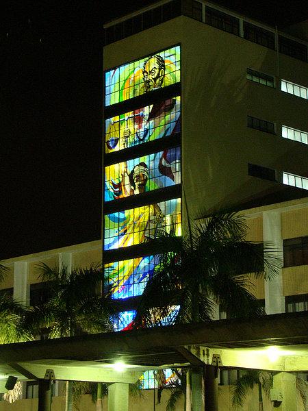 Edificio Nacional de noche