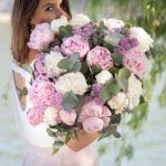 Peony Pink White Fresh 20 Flower, Venera Flowers, online flower delivery dubai