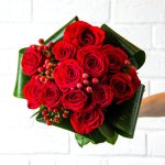 Rose Red Flower Hand Bouquet 12 Flower, Venera Flowers, online flower delivery dubai