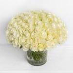 Rose White 101 Flower Vase, Venera Flowers, online flower delivery dubai
