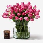 Tulip Pink Fresh Flower 35 Flower, Venera Flowers, online flower delivery dubai